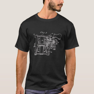 Vintage Fishing Reel Art T-Shirt