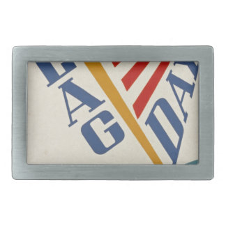 Vintage Flag Day Belt Buckle