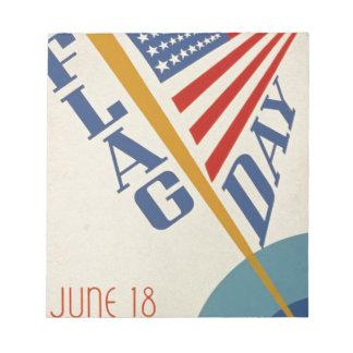 Vintage Flag Day Notepad