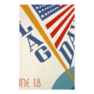 Vintage Flag Day Stationery