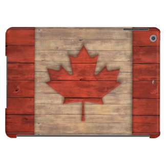 Vintage Flag of Canada Distressed Wood Design iPad Air Cover