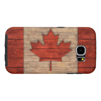 Vintage Flag of Canada Distressed Wood Design Samsung Galaxy S6 Cases