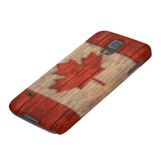 Vintage Flag of Canada Distressed Wood Design Galaxy S5 Case