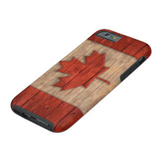 Vintage Flag of Canada Distressed Wood Design Tough iPhone 6 Case