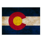 Vintage Flag of Colorado Poster