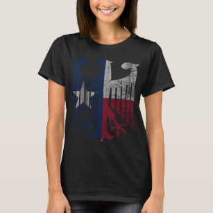 Vintage Flag of Texas German Eagle Heritage T-Shirt