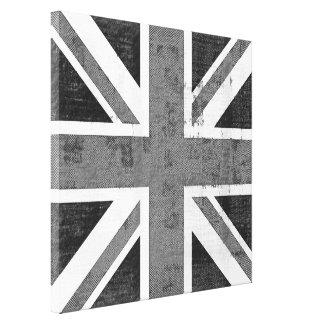 Vintage Flag United Kingdom Wrapped Canvas