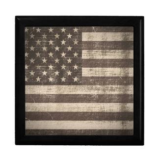 Vintage Flag United States Gift Box