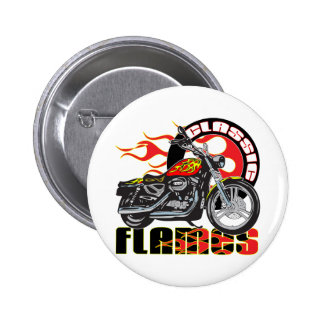 Vintage Flame Motorcycle Button