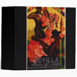 Vintage flamenco dancers Spanish 3 Ring Binders
