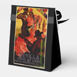 Vintage flamenco dancers Spanish Favor Boxes