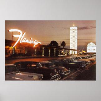 Vintage Flamingo in Las Vegas Poster
