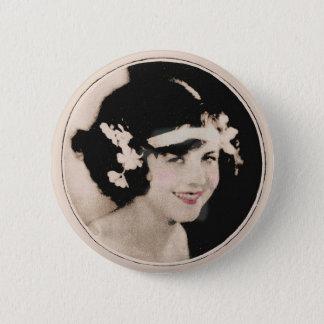 Vintage Flapper 2 Inch Round Button