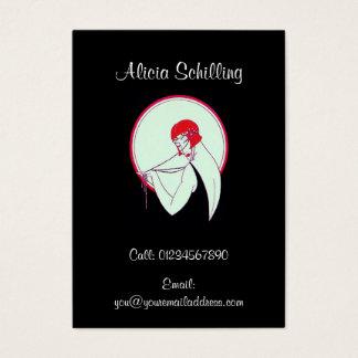 Vintage Flapper ~ Art Deco ~ Personal Business Card