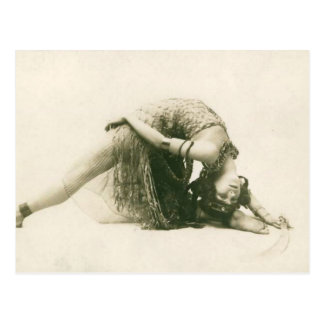 Vintage Flapper Dancer La Sylphe Backbend Postcard