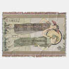 Vintage Flapper Fashion Afghan Throw Blanket