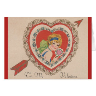 Vintage Flapper Valentine Greeting Card