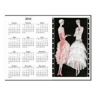 Vintage Flappers 2016 Calendar Postcard