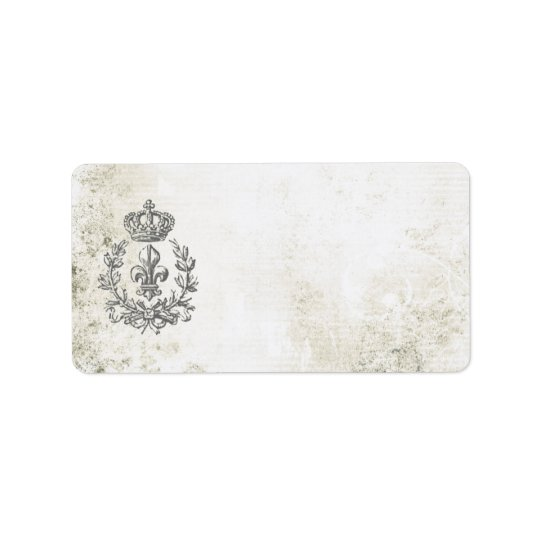 Vintage Fleur de Lis and Crown-address label