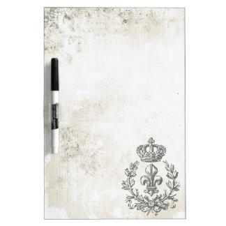 Vintage Fleur de Lis and Crown-Dry erase board Dry-Erase Whiteboard