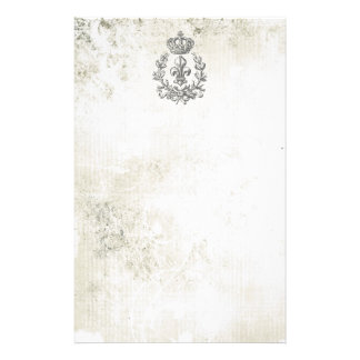 Vintage Fleur de Lis and Crown-notepad Stationery