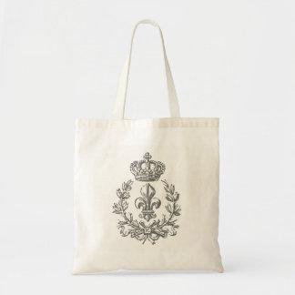 Vintage Fleur de Lis et sac de Couronne-fourre-tou