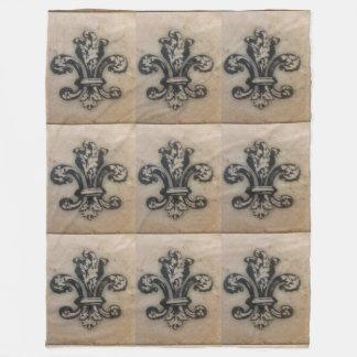 Vintage Fleur de Lis French Inspired Blanket