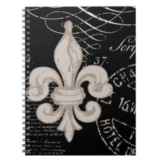 Vintage Fleur de Lis...notebook Notebook