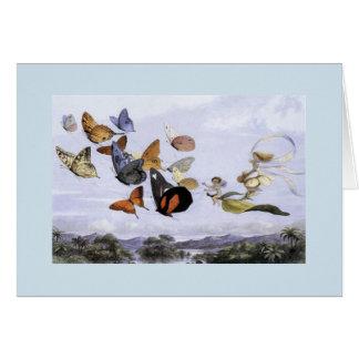 Vintage - Flight of Fairies & Butterflies, Card