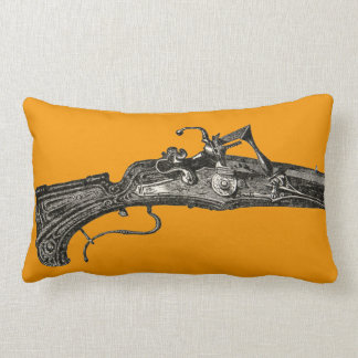 Vintage Flintlock Musket Rifle Gun Throw Pillow