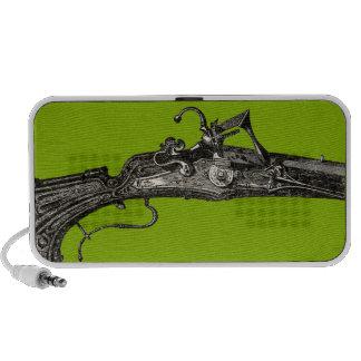 Vintage Flintlock Rifle Musket Portable Speakers