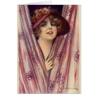 Vintage Flirty Lady, Card