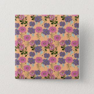 Vintage Flora 2 Inch Square Button