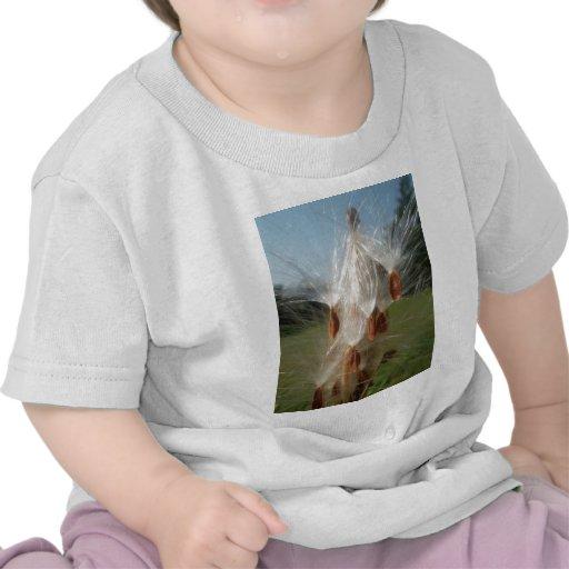 Vintage Flora and Fauna Milkweeds Floating.jpg T-shirts
