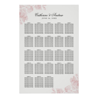 Vintage Floral | 20+ Tables Wedding Seating Chart