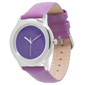 Vintage Floral Amethyst Purple Flowers Leaf Wristwatch