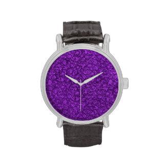 Vintage Floral Amethyst Purple Grape Flowers Wrist Watch