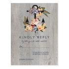 Vintage Floral Anchor | Elegant Wedding RSVP Postcard