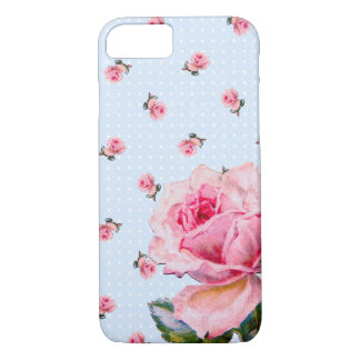 Vintage Floral and Dots iPhone 7 Case