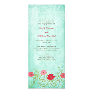 Vintage Floral and Leaves Invitation