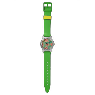 Vintage Floral and Polka Dot Watch
