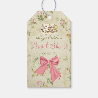 Vintage Floral and Teacup Bridal Shower Pack Of Gift Tags