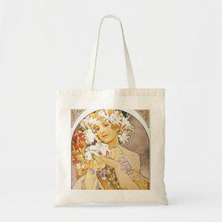 Vintage Floral Art Nouveau Tote Bag