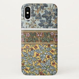 Vintage Floral Art Nouveau Wild Geranium Flowers iPhone X Case