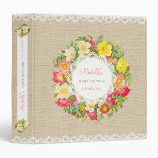 Vintage Floral Baby Shower Or Birthday Binder