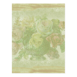 Vintage Floral Background Postcard