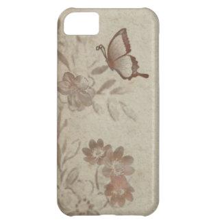 Vintage Floral Beige Cover For iPhone 5C