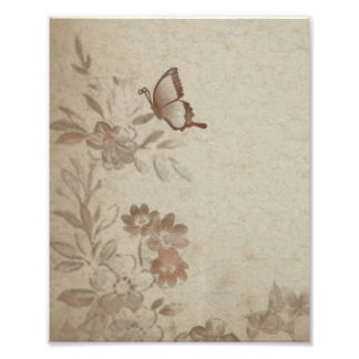 Vintage Floral Beige Photograph