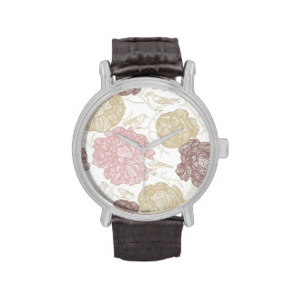 Vintage Floral Birds Wristwatches
