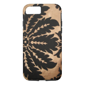 Vintage Floral Black & Gold iphone 7 Case